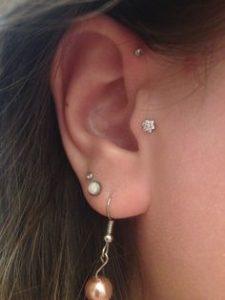 tiny tragus piercing
