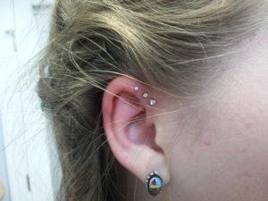 Triple Helix Ear Piercing