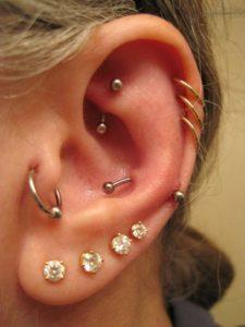Triple ear piercing jewelry