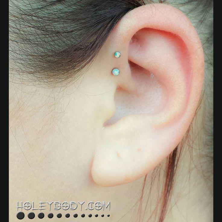 Double Forward Helix Piercing Master Piercing