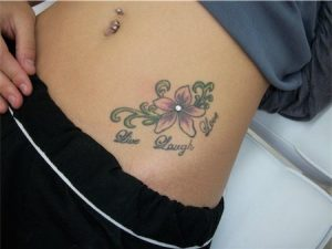 Hip Piercing with Tattoo