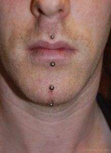 Chin Piercing Pictures