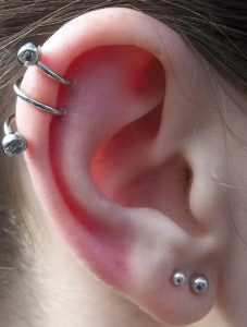 Double Cartilage Piercing Spiral