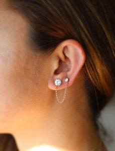 Double Ear Lobe Piercing