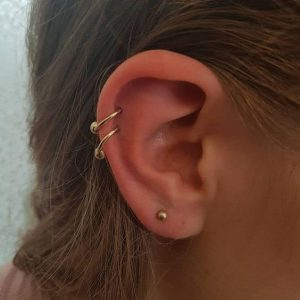 Double Ear and Helix Piercing