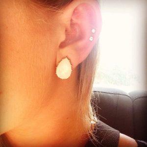 Double Middle Cartilage Piercing