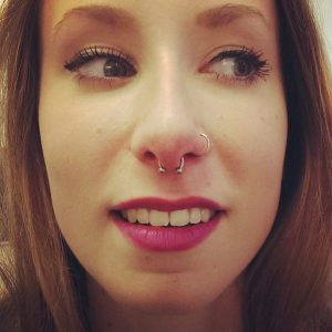 Nose and Septum Piercing