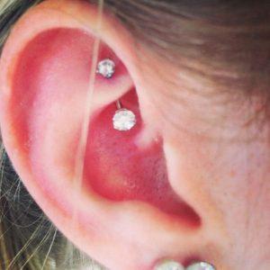 Rook Piercing Diamond
