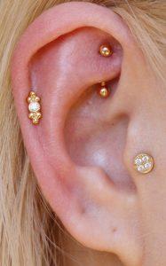 Rook Piercings Gold
